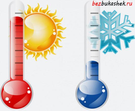 Перепад температур