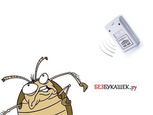 Действие ультразвука на таракана