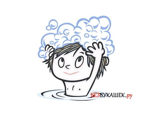 Использование мыла для головы