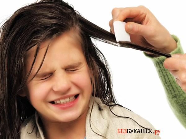 Выведение вшей с длинных волос