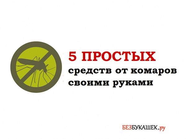5 простых средств от комаров своими руками