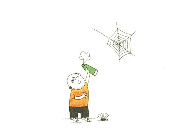 Применение средств против пауков